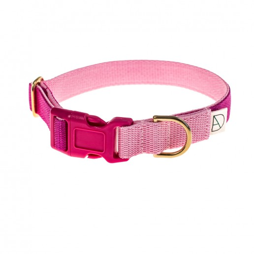 doggie apparel cerise & baby pink dog collar