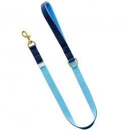 luxury blue dog lead and collar doggie apparel