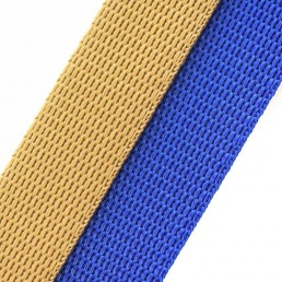 'marine' beige / royal webbing combo