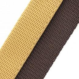 'station' beige / brown webbing combo