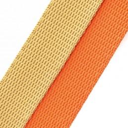 'lombard' beige / orange webbing combo