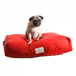 doggie apparel luxury red dog bed 'king'