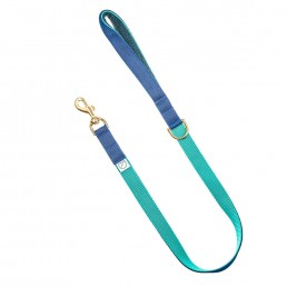 luxury navy dog lead and collar doggie apparel