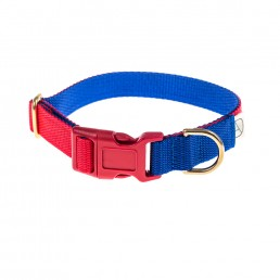 doggie apparel red & royal dog collar